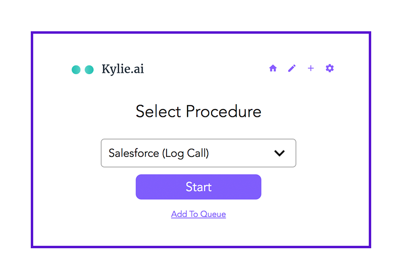 Kylie.ai procedure selection