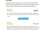 GetMoreReviews screenshot: Users are automatically notified of new reviews