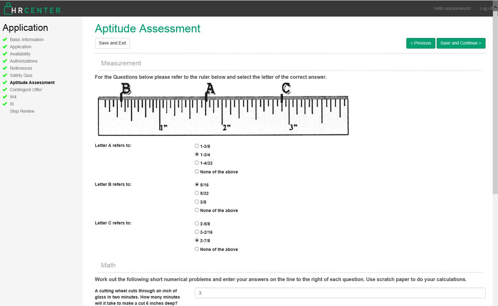 Aptitude assessment