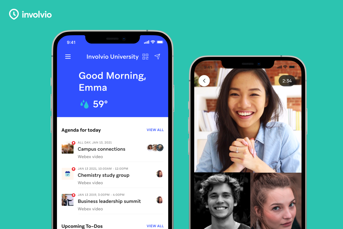Deliver a hyper-personalized campus app that keeps students on track and productive, complete with video, messaging, events, groups and more.