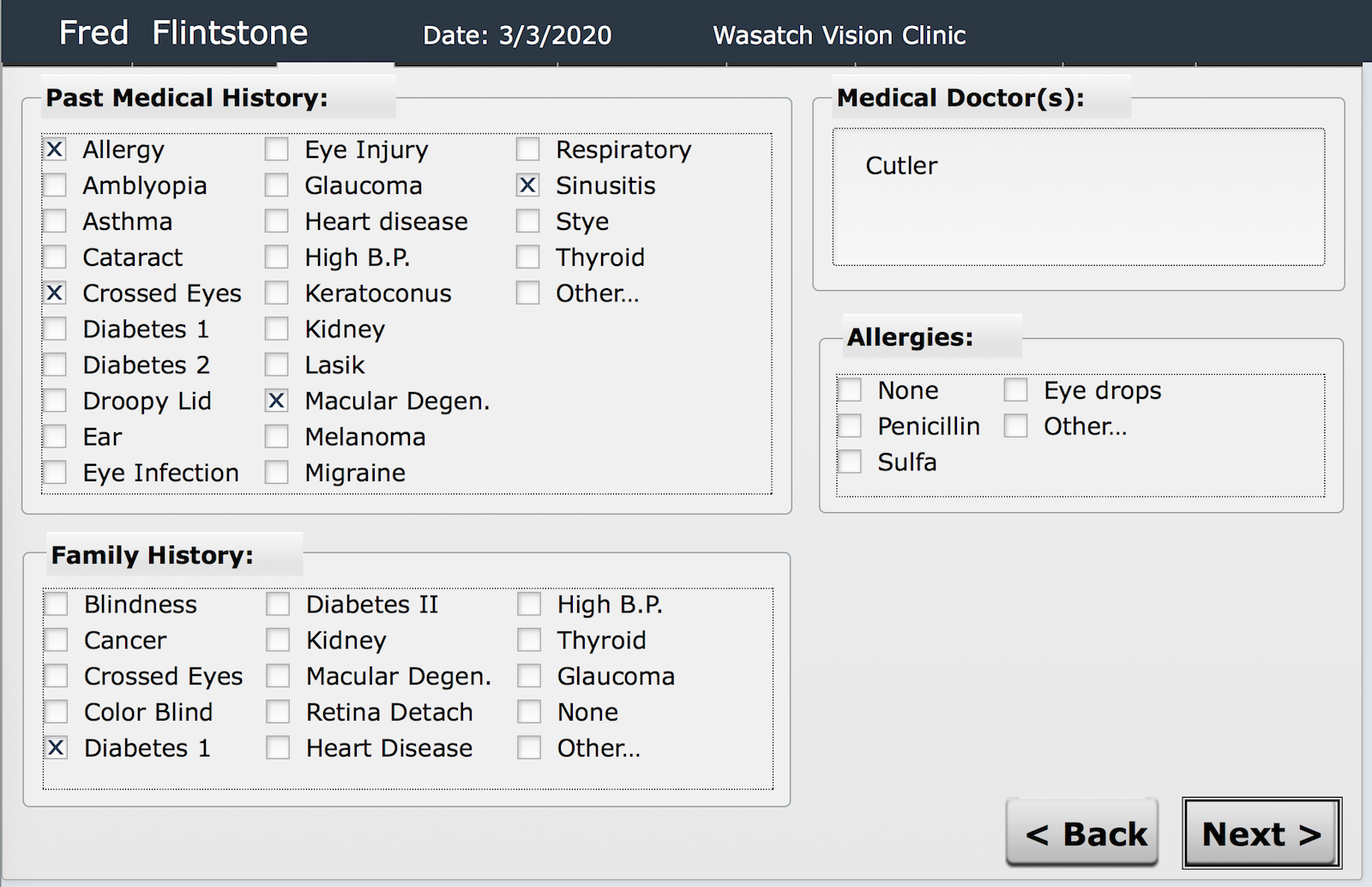 OD Link iPad Registration History