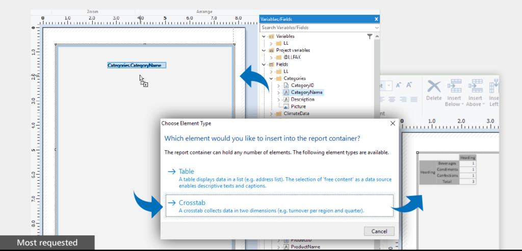 Use the report designer