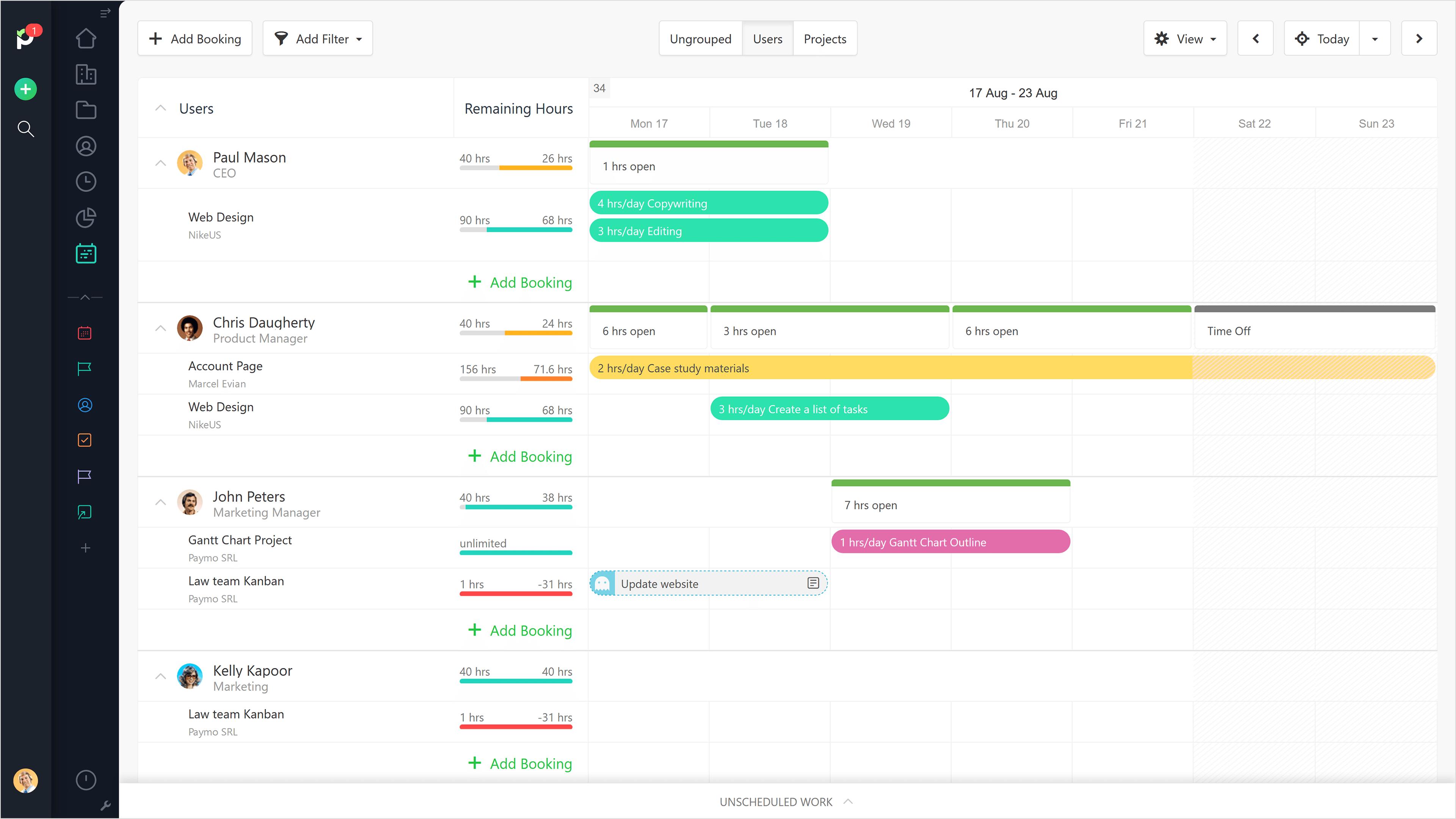 Paymo Software - Team Scheduling