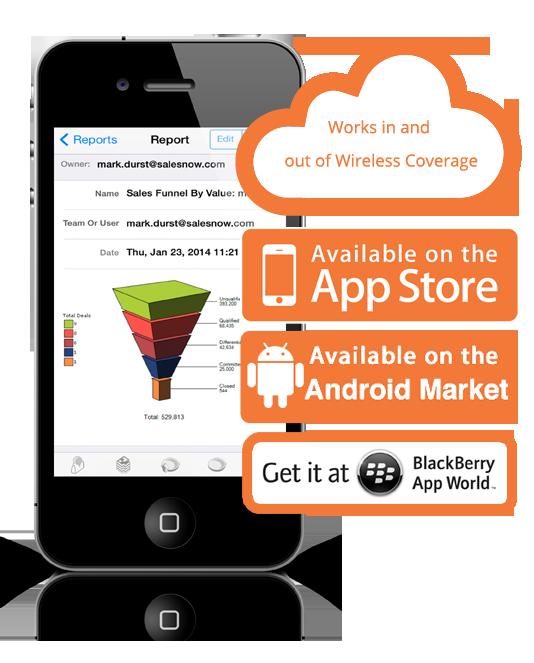 SalesNOW mobile View