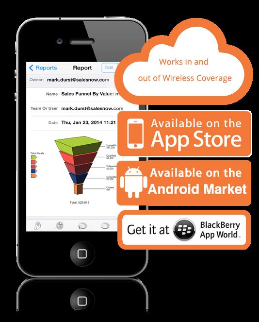 SalesNOW Software - SalesNOW mobile View