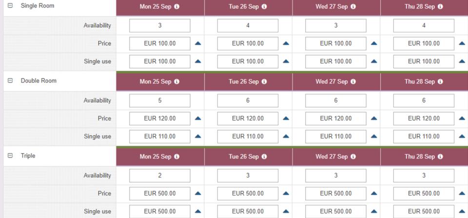 Bookingplanner  screenshot: Bookingmanager room bookings