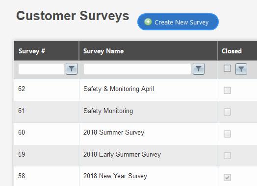Customer Survey Management Built-In