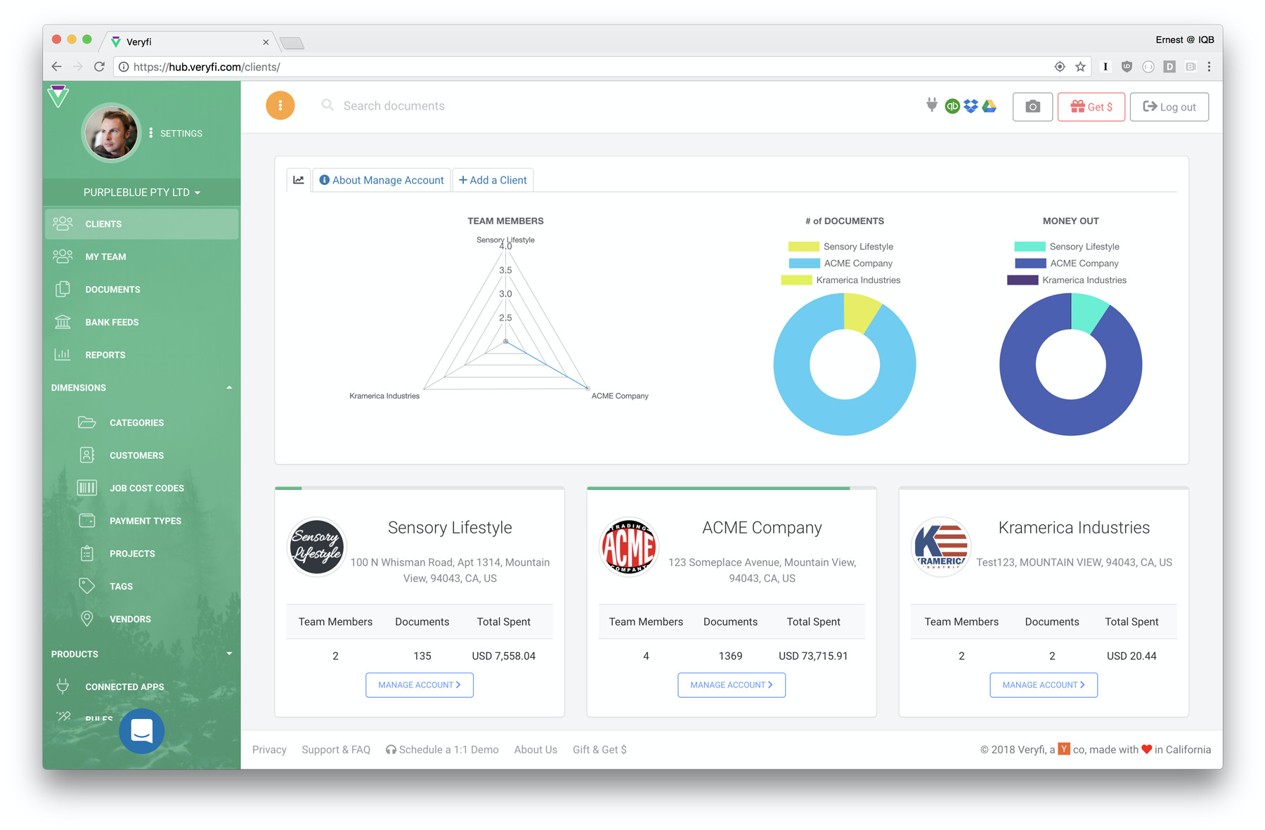 Accounting Practice Management by Veryfi for CFOs, CPAs & Bookkeepers. Accountants can earn revenue share by bringing on board clients to the Veryfi platform.