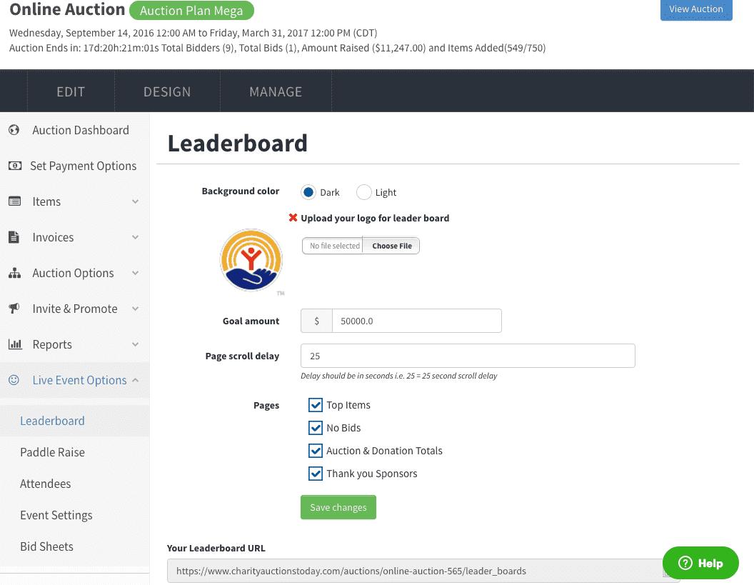 Leader board  management