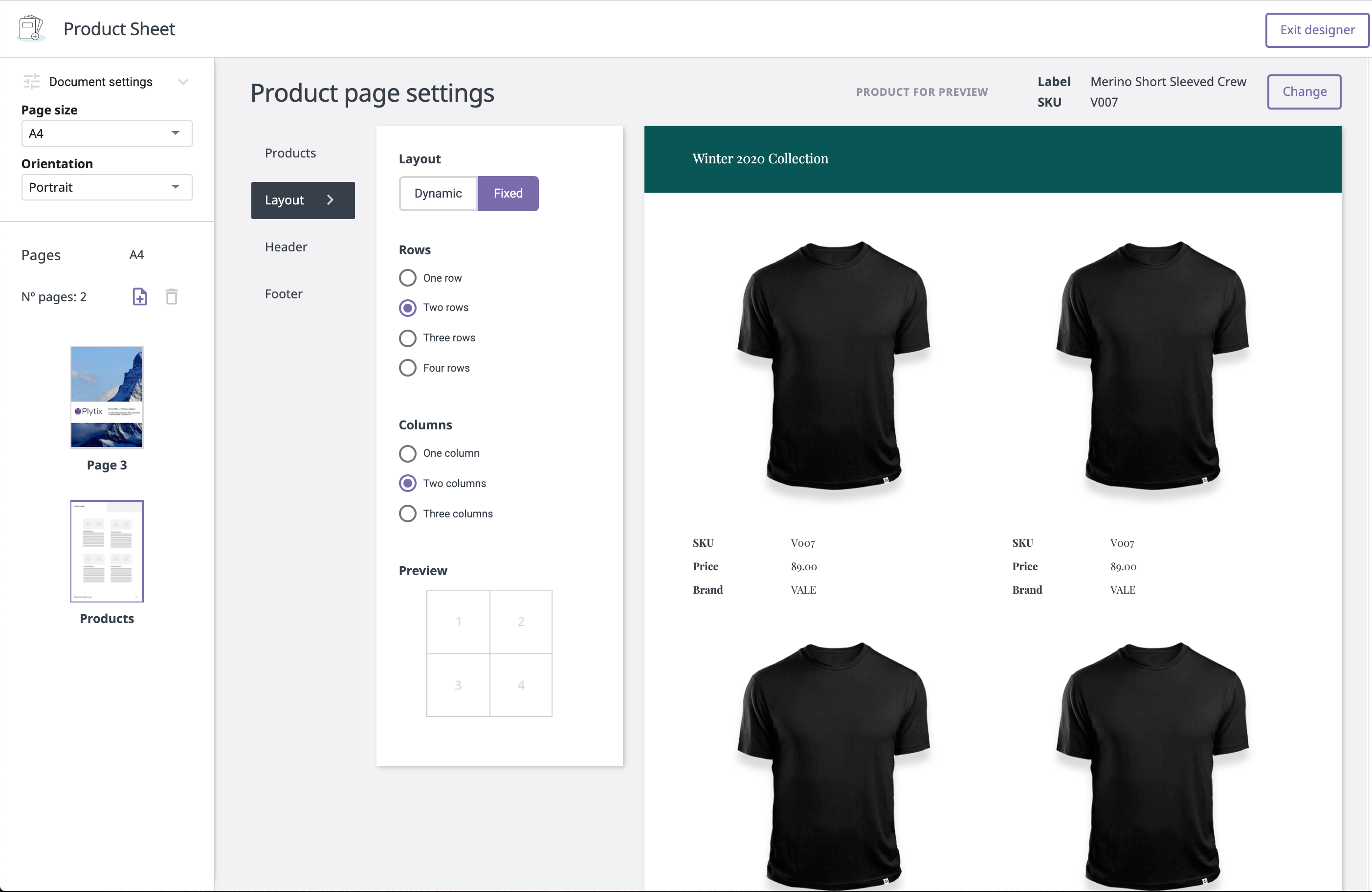 Plytix product sheet