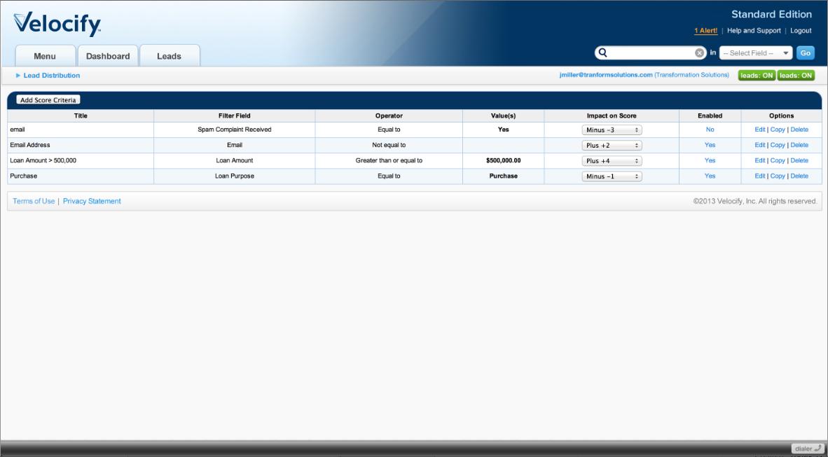 Velocify Software - 4