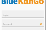 BlueKanGo screenshot: BlueKanGo mobile app login