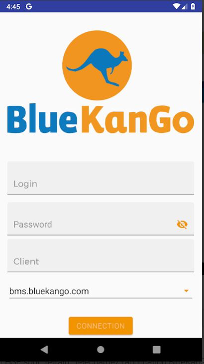 BlueKanGo mobile app login