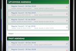 iCompass screenshot: iCompass agenda management screenshot