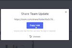 Loom screenshot: Loom share folder with teams