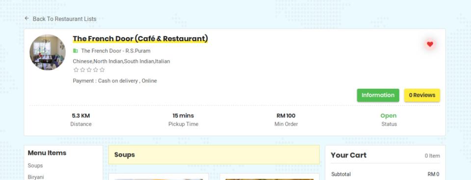 TagMyOrder restaurant portal