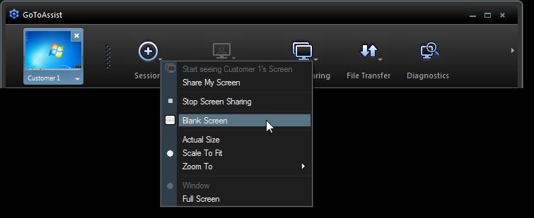 GoToAssist screen sharing