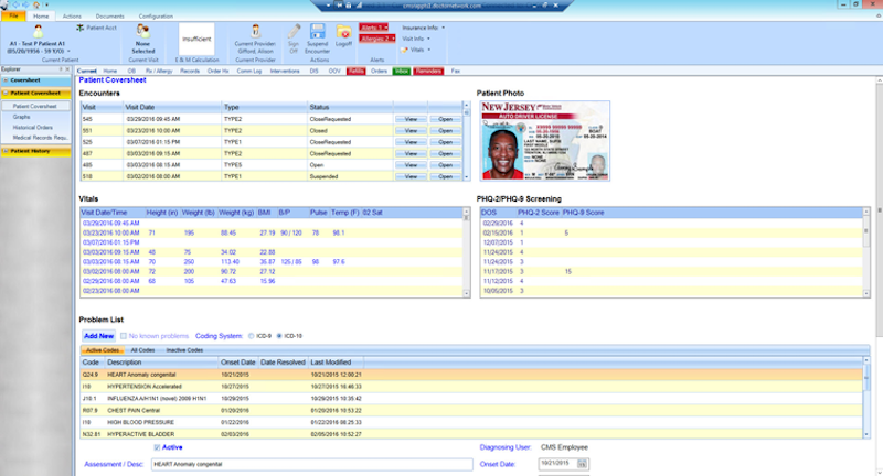 MyWINMED EMR Software - Patient Coversheet