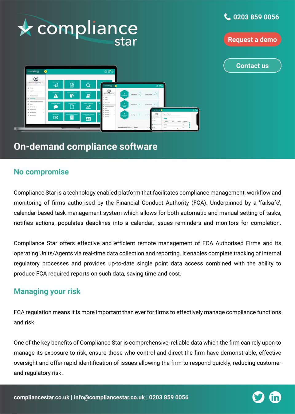 Compliance Star Software - 2