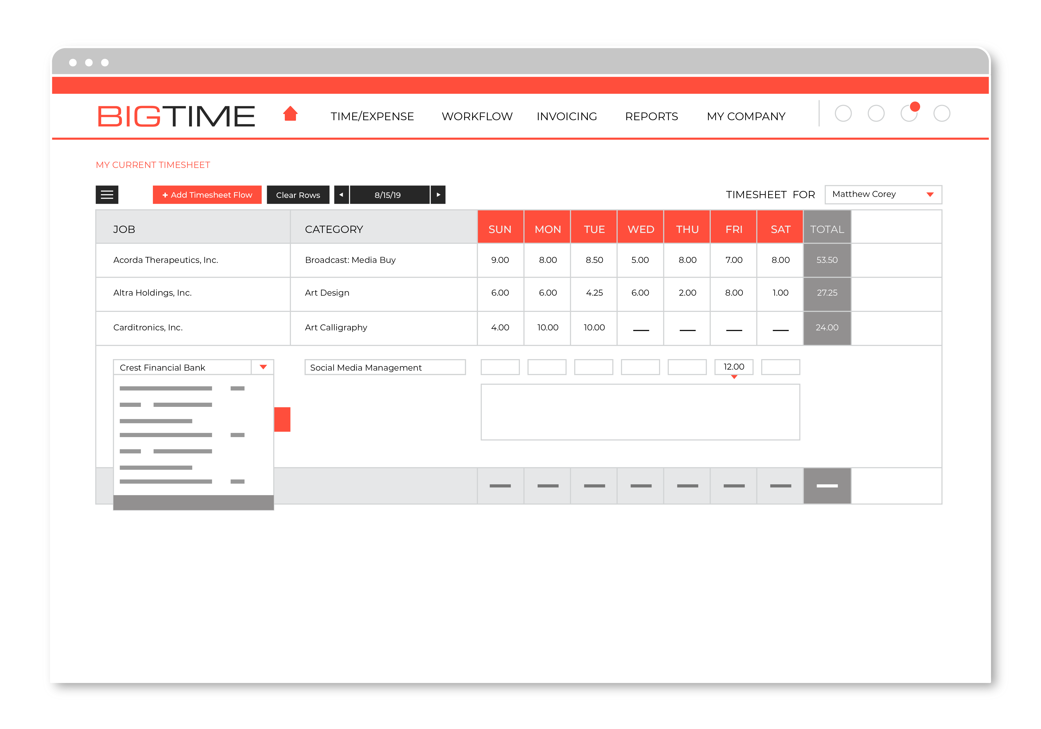 Our customizable views, smart lookups, user-driven presets/defaults and more support the most intuitive timesheet on the market.
