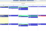 Net Health Hospice screenshot: Drag-and-drop, color-coded scheduling via the calendar
