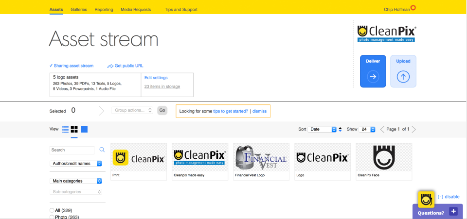 CleanPix Software - Administration Panel