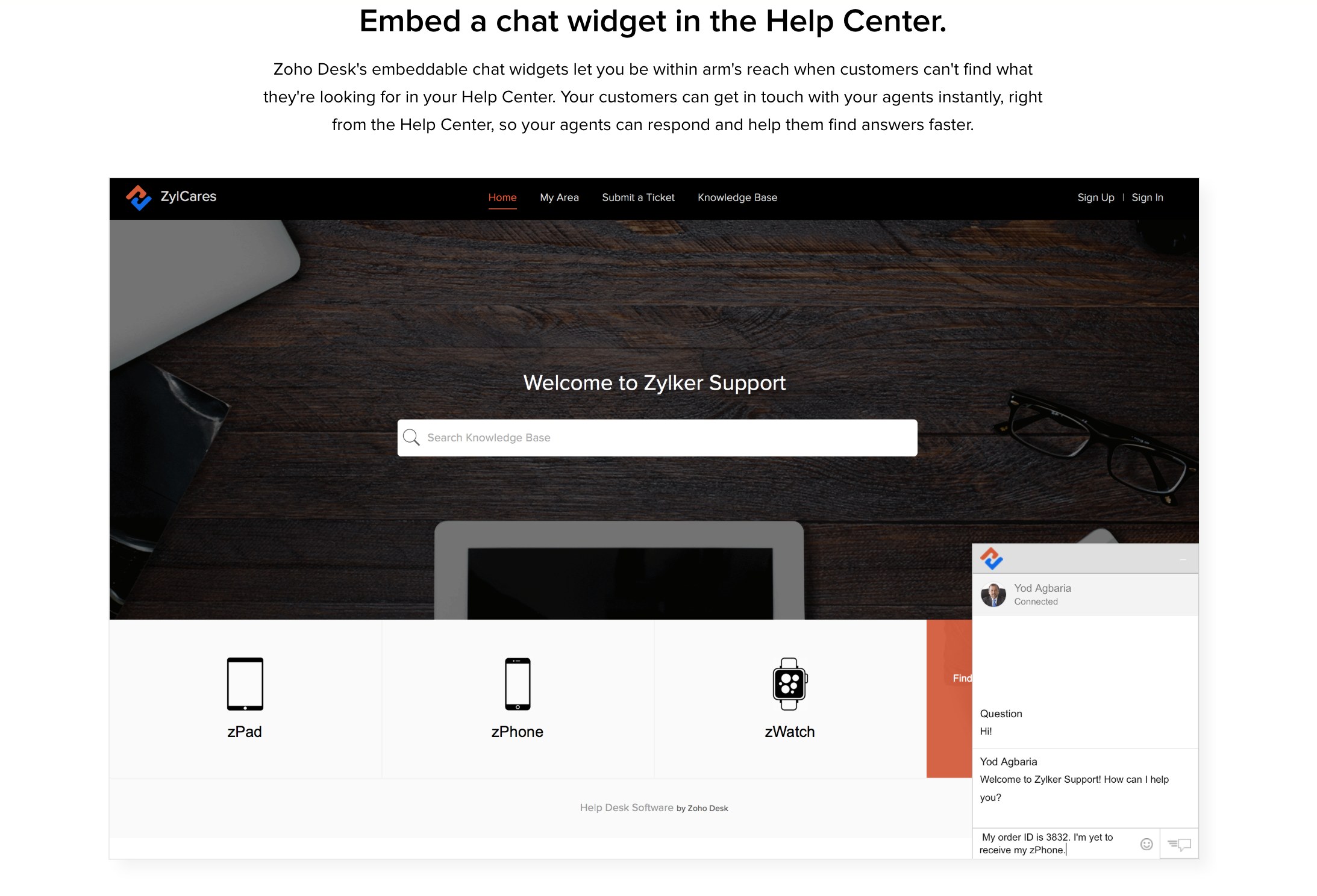 Embed Live Chat Widget