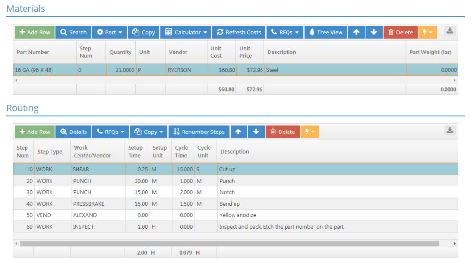 Generate accurate quotes and estimates using detailed information on costs of materials, labor, time, and more