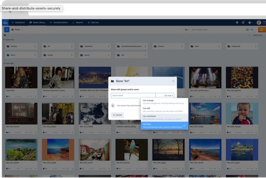 Cloudinary Software - Cloudinary Access Management