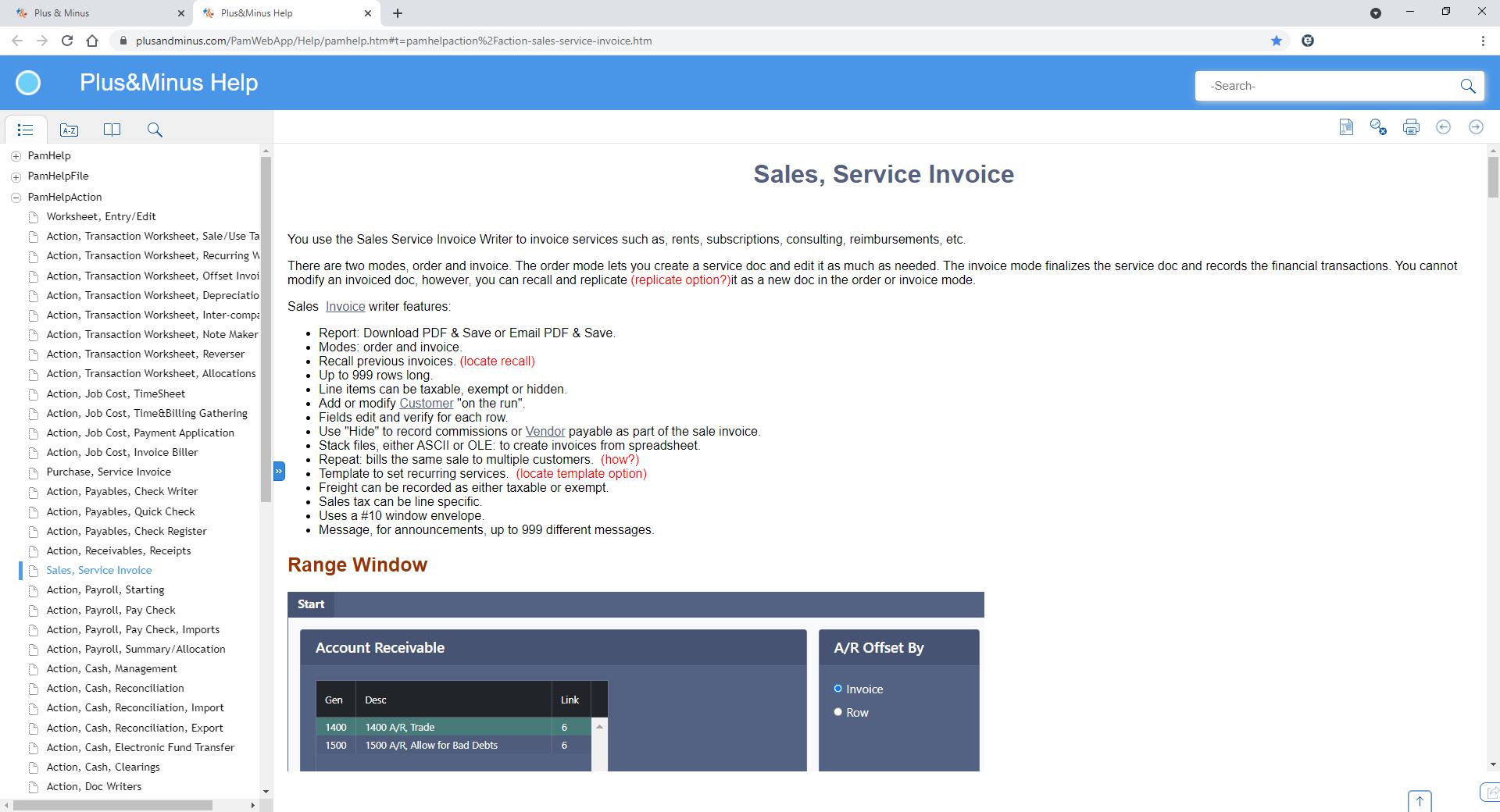 Plus & Minus Software - New Plus & Minus Web App Help