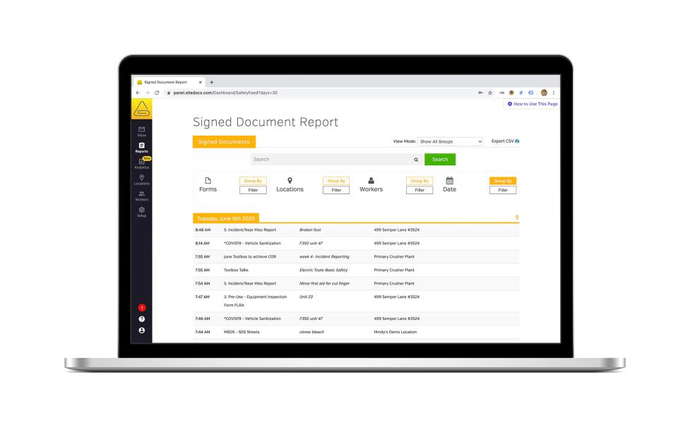 SiteDocs Software - 5