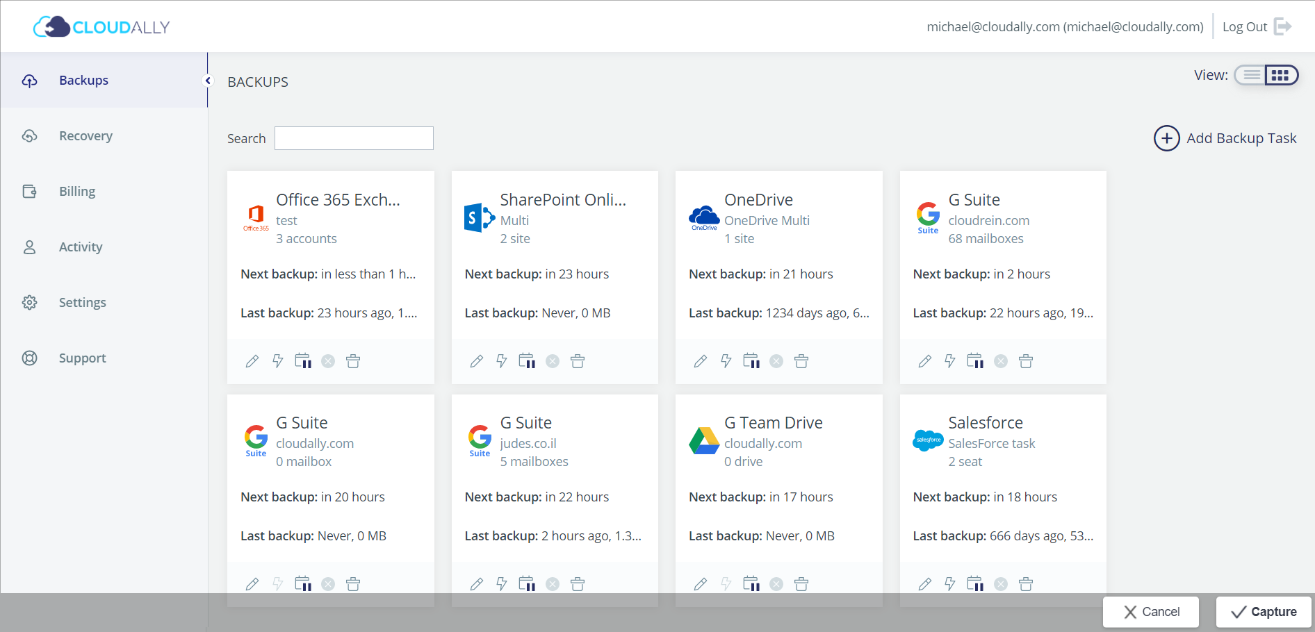 CloudAlly screenshot