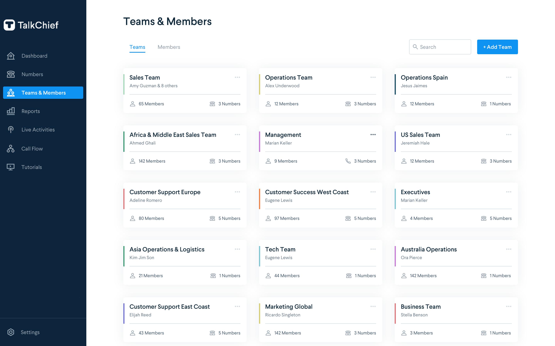 TalkChief Software - TalkChief teams