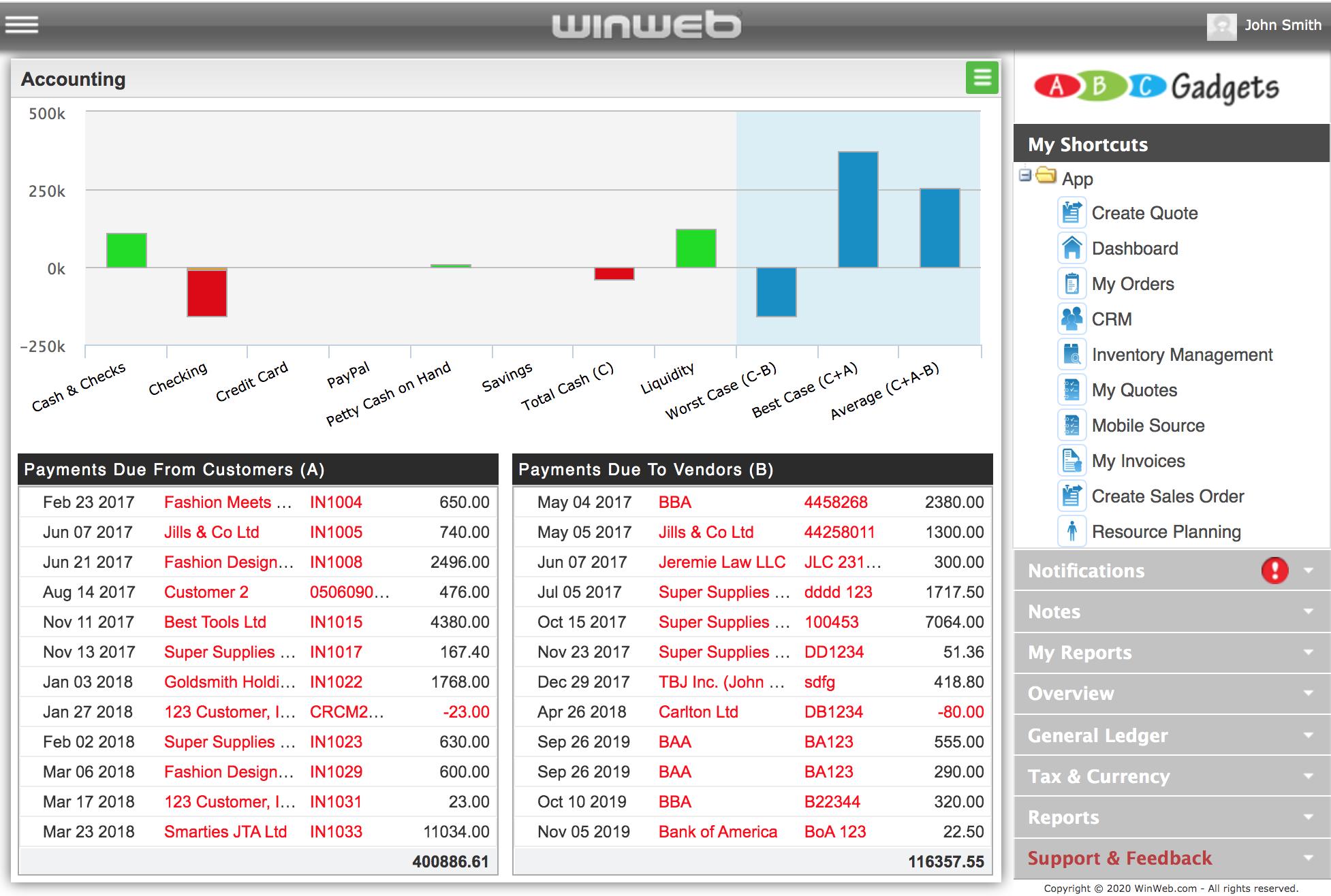 WinWeb ERP Accounting