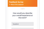 Pigeonhole Live screenshot: Simple bite-sized surveys with open-ended and multiple choice questions for quick feedback