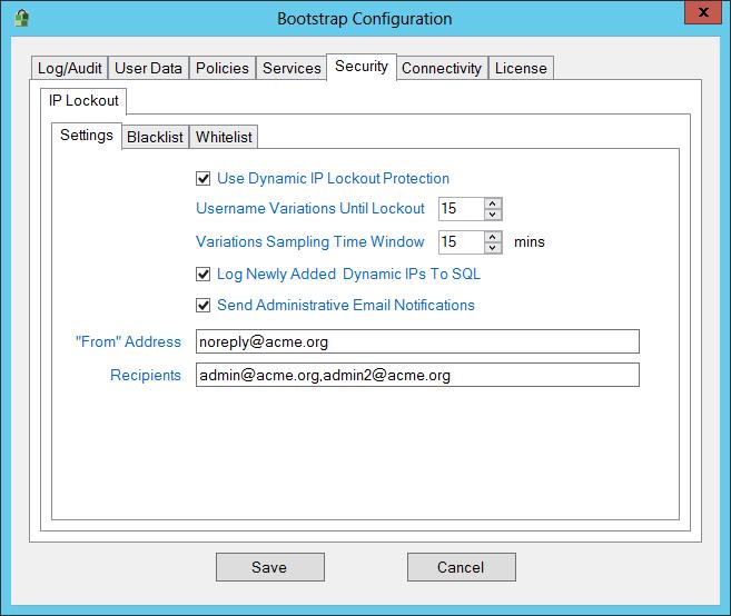 IP Lockout Settings