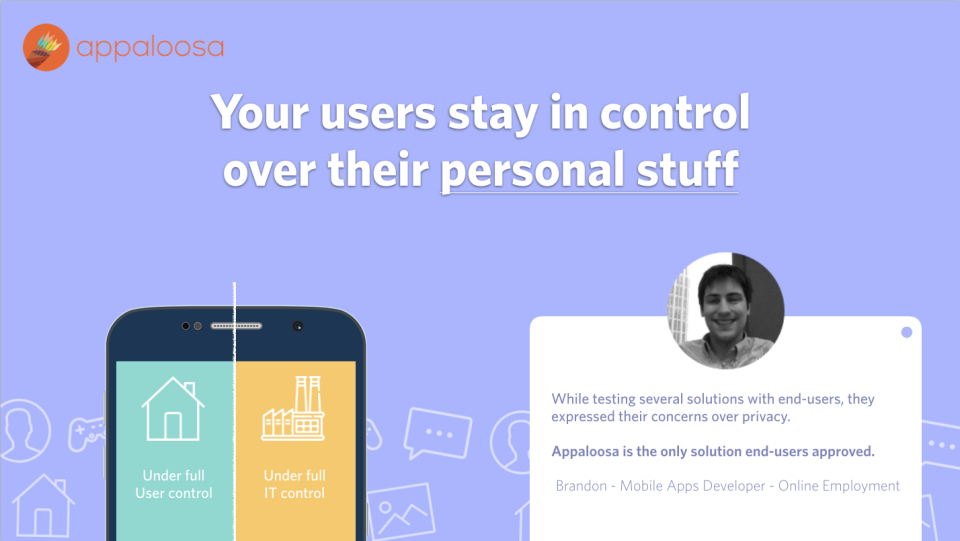 Users stay in control