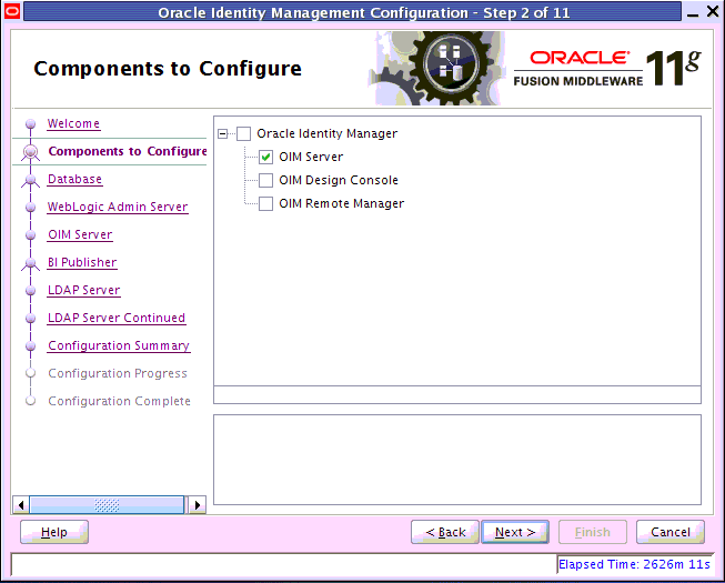 Oracle Identity Management component configuration