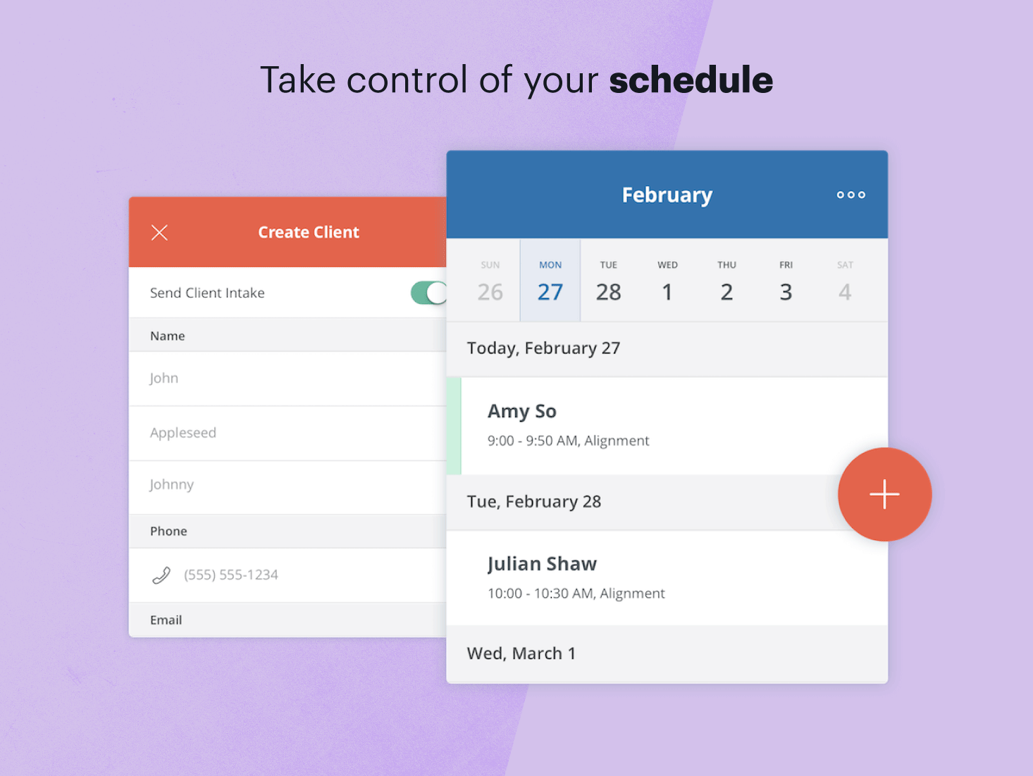 Simplify scheduling. Free reminders.
