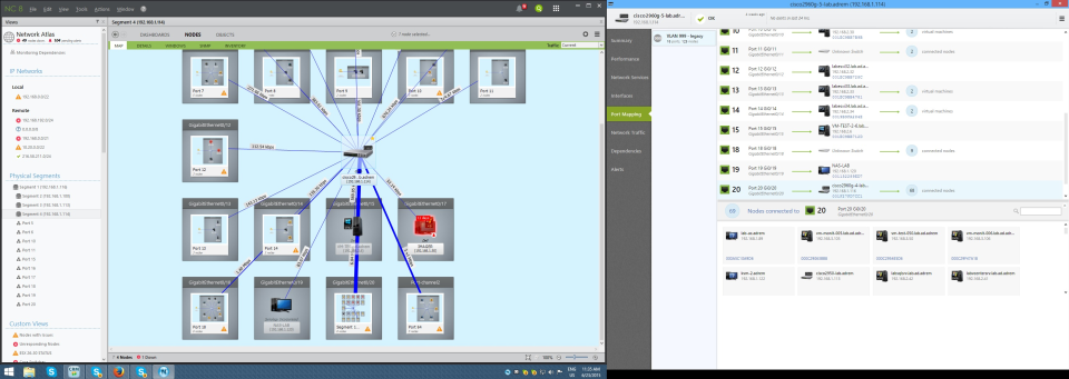 Display of NetCrunch's port mapping capabilities