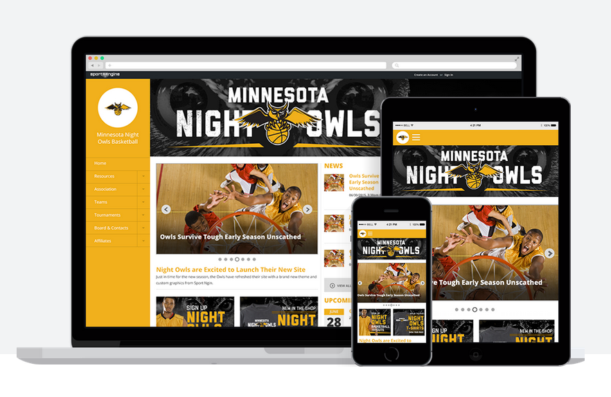 SiteBuilder produces responsive website themes that ensure every team site is optimized for viewing consistently across varying screen sizes