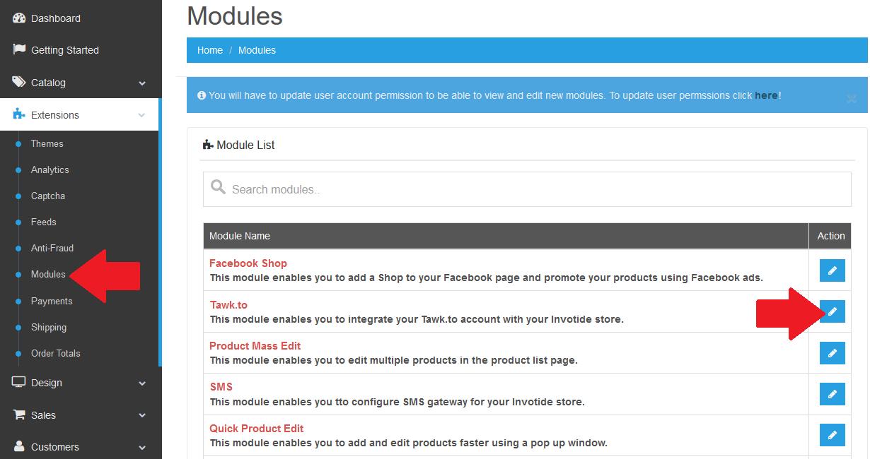 Invotide add modules
