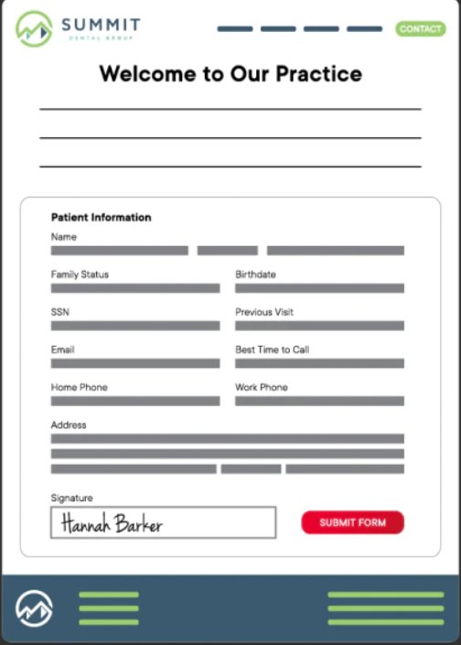 Legwork screenshot: Legwork web forms screenshot
