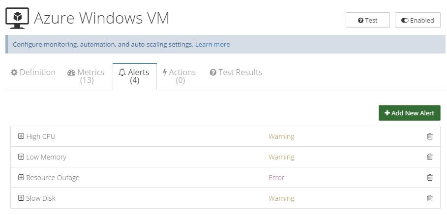 Azure Cloud Monitoring Alerts
