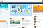 DEEP Intranet Software screenshot: DEEP dashboard and homepage
