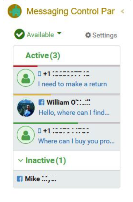 Quiq's adaptive response timer helps agents to know which conversations to handle first with those with the highest priority moving to the top of the queue