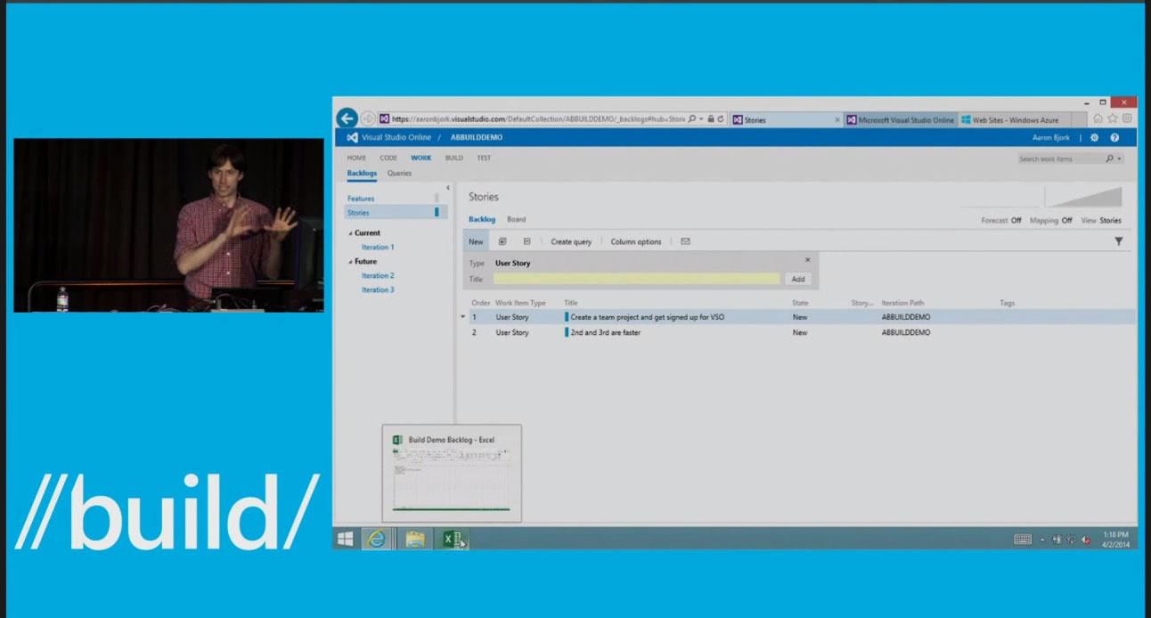 Microsoft Visual Studio Online User Story