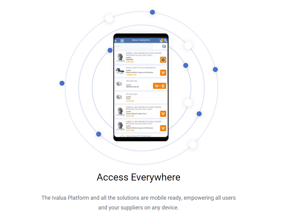 Access the Ivalua platform from anywhere with mobile optimization