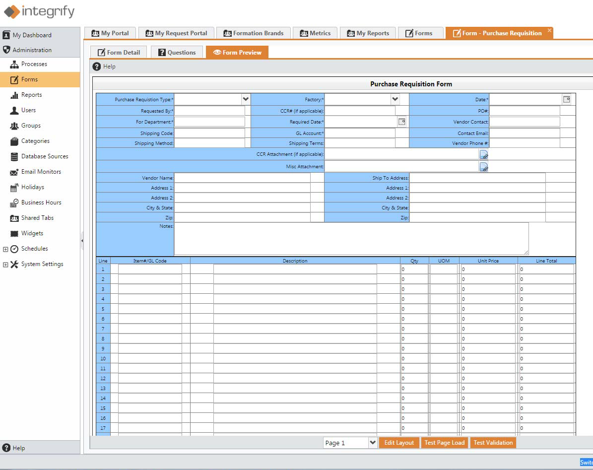 Create complex forms to capture as much data as you need.