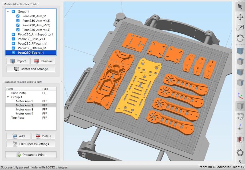 Simplify3D parts customization